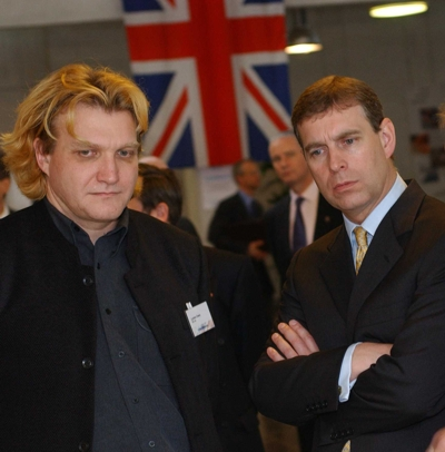 lyndon owen with HRH Prince Andrew at Intellimetrics, Technopark, Zurich