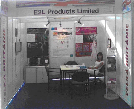 katka interpreting on the E2L products stand for LANDMARKA launch