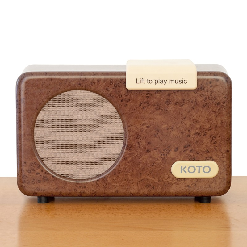 Simple Music Player in Walnut effect
