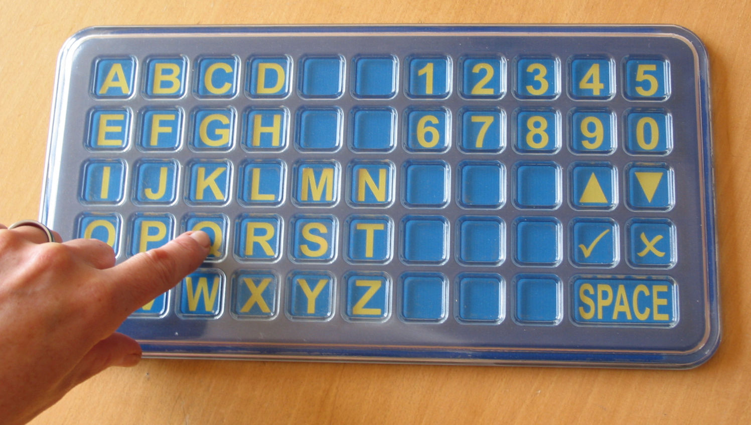 small and large scale alphabet board