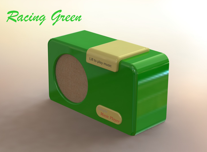 Simple Music Player Green