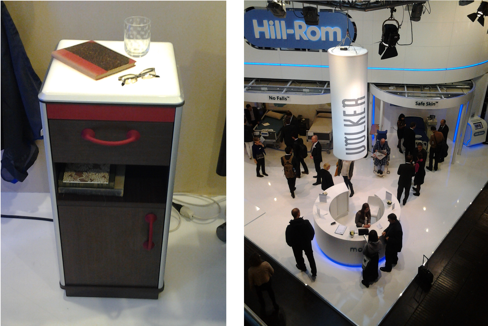 Hill-Rom version of Blys nightlight for the elderly at MEDICA