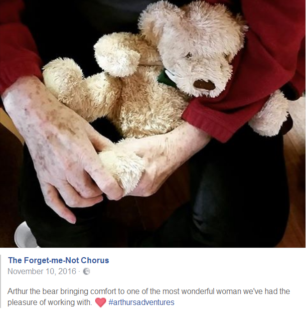 Arthur musical bear for dementia